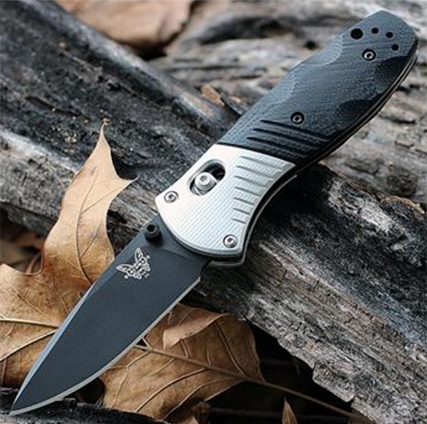 Benchmade Mini Barrage 586BK M390 Stainless Assisted Opening Black Edge.psd