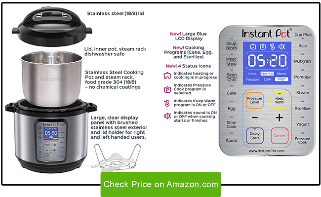 nstant Pot Duo Plus 9-in-1 Multi-Functional Pressure Cooker