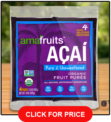 Amafruits Acai Berry Puree 24 Smoothie Packs