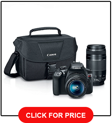 Canon EOS Rebel T6 DSLR Camera 2 Lens Bundle review