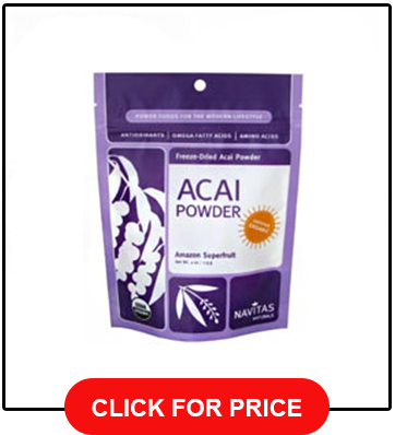 Navitas Organics Acai Powder 8oz Bag