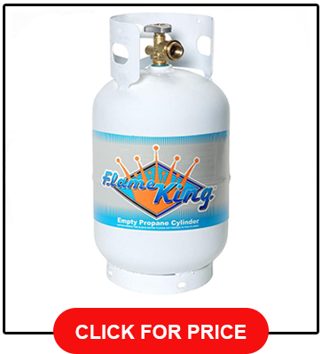 11 LB Flame King Steel Propane Cylinder Tank