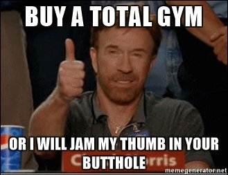 Chuck norris total gym funny joke