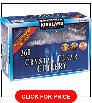 Kirkland Signature Clear Cutlery 360-count