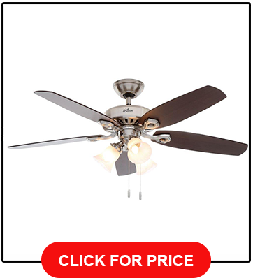 Hunter 53237 Builder Plus 52 Inch Ceiling Fan