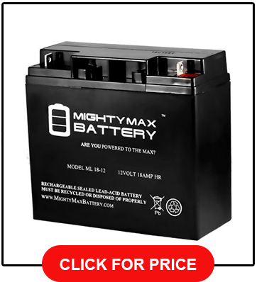 Mighty Max Battery ML18 12 12V 18AH CB19 12 SLA AGM Rechargeable Deep Cycle