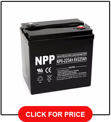 NPP 6V 225 Amp Deep Cycle Golf Cart Battery