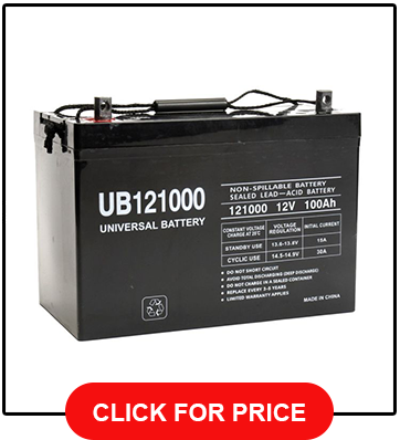 Universal UB121000 4597812v 100AH Deep Cycle AGM Battery