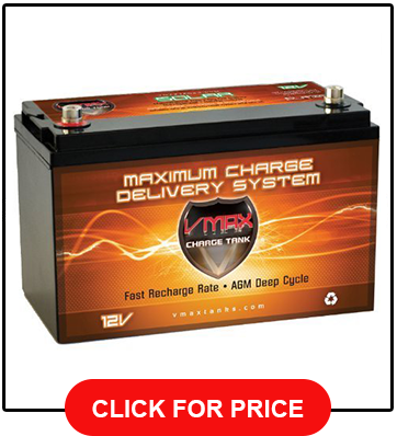 Vmax Tanks Vmaxslr125 AGM Deep Cycle 12v 125ah SLA rechargeable Battery