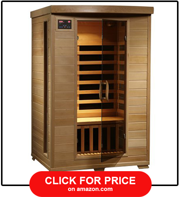 Radiant Saunas 2 Person Hemlock Deluxe Infrared Sauna